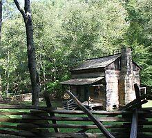 old log cabin by fotoflossy