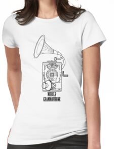 Mobile Gramophone Womens Fitted T-Shirt
