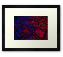 Square Stones Pathway Number 30 Framed Print