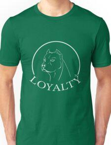 Pitbull - LOYALTY (white outline version) Unisex T-Shirt