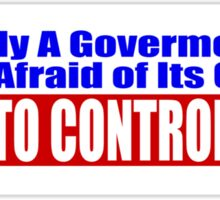 Government Fear Sticker