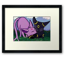 Umbreon and espeon Framed Print
