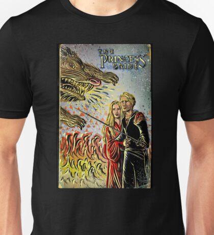 Princess Bride Art illustration drawing movie As You Wish 80's fantasy Wesley Valentine's present Robin Wright Penn Rob  Unisex T-Shirt
