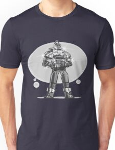 Robot from the future with sparkles Unisex T-Shirt