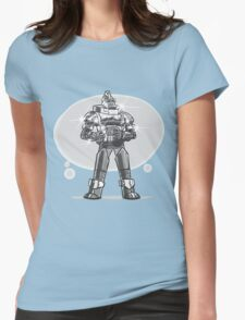 Robot from the future with sparkles Womens Fitted T-Shirt