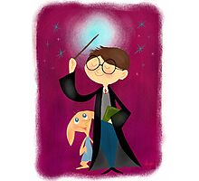 Harry Potter and Dobby Photographic Print