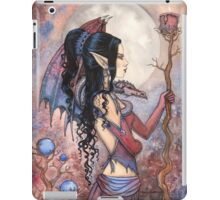 Dragon Girl Gothic Fantasy Art by Molly Harrison iPad Case/Skin