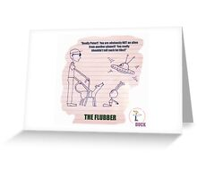 The Alien And The Blind Man (Cartoon) Greeting Card