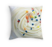 Vanilla Stars and Swirls - Cupcake  Throw Pillow