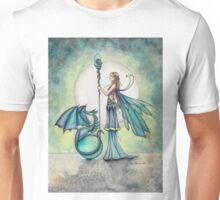 Aquamarine Dragon Fairy Dragon Art by Molly Harrison Unisex T-Shirt