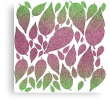 Neon Leaves Canvas Print