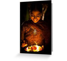 the light on her face Greeting Card