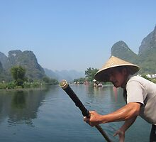 Cruising the mountains of Yangshuo  by justineb