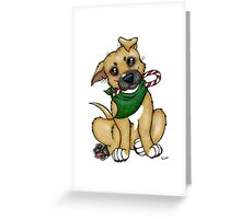 A Christmas Pittie (Pit Bull) Greeting Card