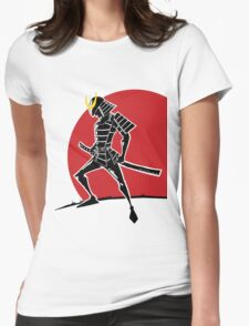 Land of the Rising Sun - Samurai Warrior Womens Fitted T-Shirt