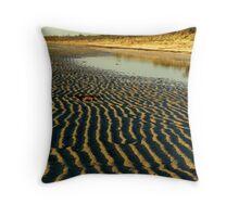 """sandpatterns"", Flaherty's Beach, Southern Yorke Peninsula Throw Pillow"