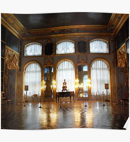 Entertaining room- Catherine's Palace Poster