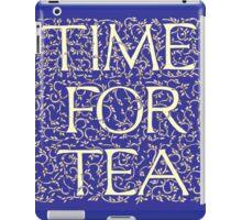 Time For Tea (Royal Blue) iPad Case/Skin