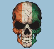 Ivory Coast Flag Skull Kids Tee