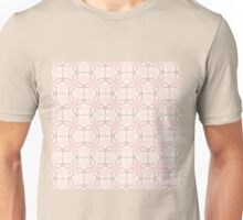 Romantic Tracery in Pink Unisex T-Shirt
