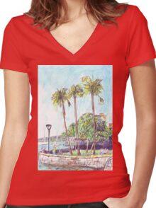 Beare Park Picnic Women's Fitted V-Neck T-Shirt
