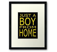 Just A Boy From Home Framed Print
