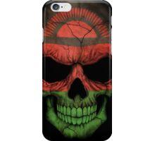 Malawi Flag Skull iPhone Case/Skin