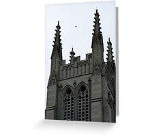 I fear the fire, calling down below....A dark desire, as it tears through the flesh of my soul..And there's a feeling, hiding deep within...In the cathedral  (photo) Greeting Card