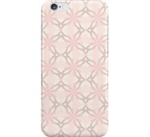 Romantic Pink and Grey Flowers iPhone Case/Skin