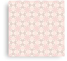 Romantic Pink and Grey Flowers Canvas Print