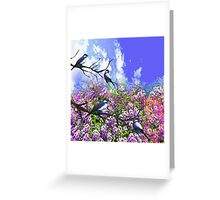 Blue Birds and a Summer Day Greeting Card