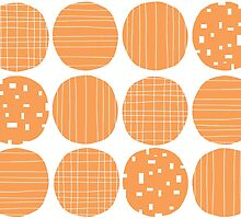 Tangerine circles by Morag Anderson