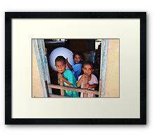 Fijian Children  Framed Print