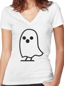 Ghost Writer [Black] Women's Fitted V-Neck T-Shirt