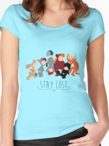 -Lost Boys Stay Lost Women's Fitted Scoop T-Shirt