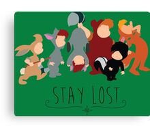-Lost Boys Stay Lost Canvas Print