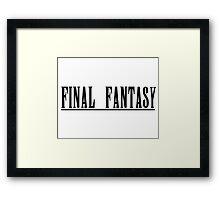 Final Fantasy Title Framed Print