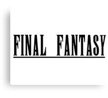 Final Fantasy Title Canvas Print