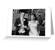 Wedding Day Happiness in Black & White Greeting Card