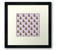 Pugs on Lavender Checks Framed Print
