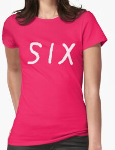 SIX [White] Womens Fitted T-Shirt