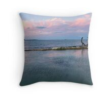 Fairy Bower Rock Pool at Sunset Throw Pillow