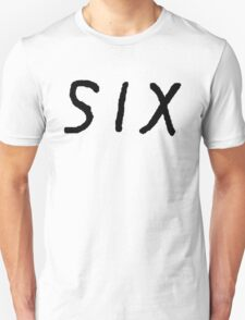 SIX [Black] Unisex T-Shirt