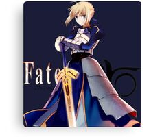 fate zero stay night saber anime manga shirt Canvas Print