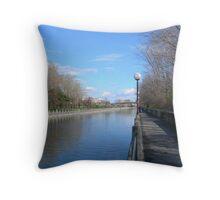 Ottawa Canalscape Throw Pillow