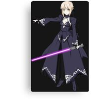 fate zero stay night dark saber star wars lightsaber paraody anime manga shirt Canvas Print