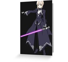 fate zero stay night dark saber star wars lightsaber paraody anime manga shirt Greeting Card