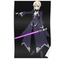 fate zero stay night dark saber star wars lightsaber paraody anime manga shirt Poster