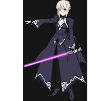 fate zero stay night dark saber star wars lightsaber paraody anime manga shirt Photographic Print