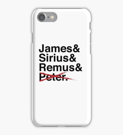 James & Sirius & Remus & X. iPhone Case/Skin